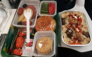 S7: питание на борту на тарифе эконом базовый и бизнес класс